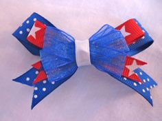 4th of July dog hair bow by MimisDogBowtique on Etsy, $5.00