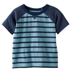 Baby Boy Jumping Beans® Striped Raglan Tee, Turquoise/Blue (Turq/Aqua)