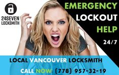 #Vancouver #Emergency #Locksmith offers quick and effective results to your urgent problems - 24 Hour Emergency Locksmith can reach you within minutes and help with #lockout or any other type of #key & #lock issues.