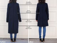 Adventures in Alterations - Zara Pinstripe Coat - Alterations Needed Fashion Banner, Sewing Alterations, Tailored Coat, Couture Outfits, Altering Clothes, Sewing Clothes, My Wardrobe, Diy Fashion, Zara