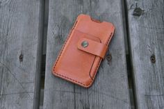 Leather Iphone 5/5S cover  by NHLdesign on Etsy