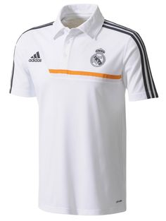 890ffa0c2 Adidas Real Madrid White Soccer Polo Shirt 2013 - 2014 Real Madrid Soccer