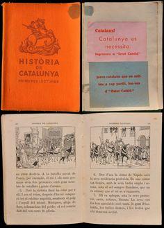 FERRAN SOLDEVILA. Història de Catalunya. Primeres lectures. Barcelona, Editorial Seix i Barral, 1933. Il·lustración de Vinyals. Amb significativa publicitat enganxada d'Estat Català.