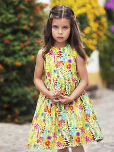 GIRLS GARDEN PRINT PARTY DRESS - Oscar de la Renta Baby & Toddler - Baby Clothing by Oscar De La Renta - Oscar de la Renta
