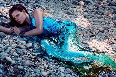 Sequin mermaid-- photographer Chris Nichols