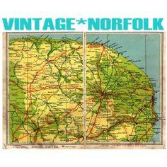 Vintage Norfolk Map Great Yarmouth, Cromer, Uk Photos, Sign Printing, Growing Up, United Kingdom, Scrapbook, Memories