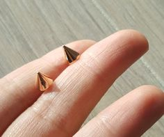 Tiny Rose gold Spike studSpike earring Micro Rose gold Spike