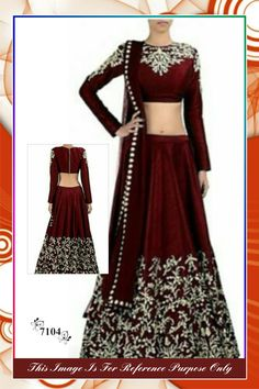 Share to get 5% OFF on your order Deep Maroon Silk Lehenga By purple Oyster…