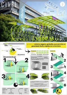Architecture Board, Green Architecture, Landscape Architecture, Architecture Design, Presentation Board Design, Product Presentation, Bus Stop Design, Street Furniture, Bicycle Design