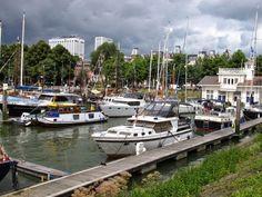 Netherlands Waterway Trip - Shangri La moored in Veerhaven in Rotterdam