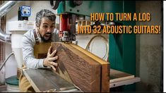 How to turn a Cocobolo log into 32 acoustic guitars! - YouTube Acoustic Guitars, Youtube, Acoustic Guitar, Youtubers, Youtube Movies