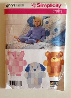 Toffee brown with cream fur paw throw jolly bea 39 s dog for Simplicity craft pattern 4993