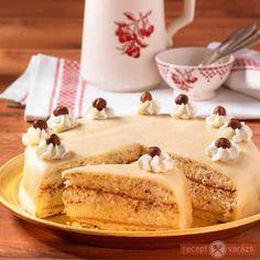 Karácsonyi marcipános-mogyorós torta Cheesecake, Dessert Recipes, Pudding, Cookies, Food, Drink, Crack Crackers, Beverage, Cheesecakes