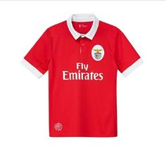 S.L. BENFICA Official Replica Home Red Jersey 2017/2018 Men's European Sizes #SLBenficaOfficialReplica #Benfica