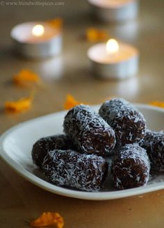 If you are looking for more Diwali Sweet Recipes then do check Mawa Coconut Jaggery Laddu, Pori Urundai, Peanut Sesame Laddu, Chocolate Peda, Kesar Peda, Mohanthal, Gur Paare, Khoya Til Ladoo and Kova Kajjikayalu Here's a full list of Diwali Recipes .  Dates Coconut Rolls Recipe   Prep Time: 10 mins|Cook time: 5 mins|  Makes:...