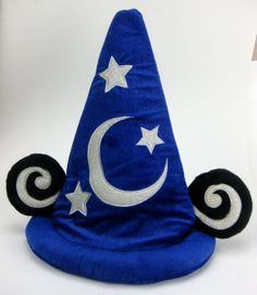 Disney World Mickey Mouse Sorcerer Hat Fantasia Wizard Ears Plush Costume | eBay