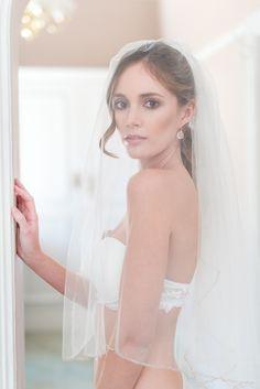 Beautiful boudoir shoot with wedding veil | Lightburst Photography | see more on: http://burnettsboards.com/2014/09/pretty-feminine-boudoir-session/