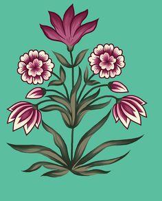Hd Flowers, Draw Flowers, Designs To Draw, Vase, Japanese, Antiques, Digital, Drawings, Islamic
