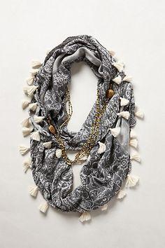 Tasseled Necklace Scarf #anthropologie