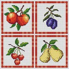 Free Cross Stitch Patterns: Kitchen Fruit