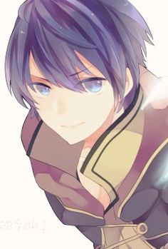 It's Chromorgan!  ...no seriously that's Chrom's hair color, and since it's make Morgan, we can assume that it's Chrom and FeMU's son.   Thanks hair color!  Couldn't have figured out the genetics of a fictional character without you.