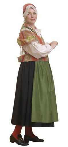 Maskun seudun naisen kansallispuku