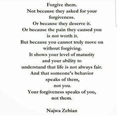 Forgiveness -- Najwa Zebian