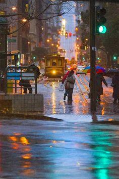 Rainy San Francisco, California