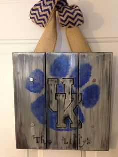 Personalized Family Name Wood Sign or Front Door Hanger: University of Kentucky Wildcats on Etsy, $27.95