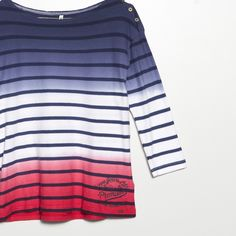 #jeansstore #fallwinter14 #fall #winter #autumn #autumnwinter14 #onlinestore #online #store #shopnow #shop #fashion #womencollection #women #pepejeans #tshirt #teresa #multi #stripes #cotton #regularfit #longsleeve #boatneck
