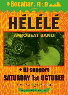 Helele @ Bocabar Glastonbury African Jazz Funk Saturday 1st October 2016 Glastonbury Somerset, Live Jazz, Jazz Funk, Brick Building, October, African, Red
