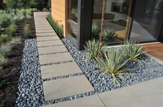 Beautiful landscaping. - clean stones, nice contrast with the rocks, rocks are neat, fits the desert environment