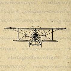Digital Graphic Speed Scout Plane Download Vintage Airplane Image Biplane Printable Artwork Antique Clip Art Jpg Png 18x18 HQ 300dpi No.1588 @ vintageretroantique.etsy.com