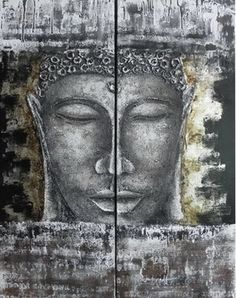 hand painted oil painting, buddha wall art