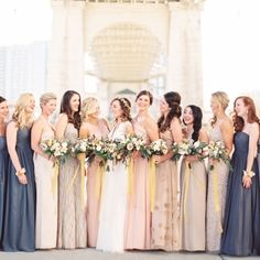 Love the bridesmaids fashion from this photo? Click the photo to see where to shop for these dresses! #liketkit www.liketk.it/2lPe @liketkit
