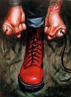 Dr. Martens, Botas Dr Martens, Doc Martens Boots, Skinhead Boots, Skinhead Fashion, Punk Fashion, Arte Punk, Punk Art, Estilo Rock
