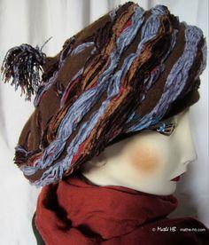 Winter Mütze Mongolischer Stil Kastanie brown par MatheHBcouture