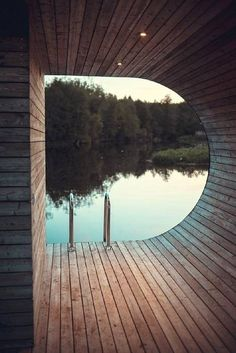 Sauna, lovely view from the patio.