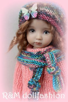 """R M Dollfashion Cosy Line OOAK Outfit for Effner Little Darling 13"""" Doll 