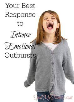 If you have children, you know they have intense emotions! This was the best tip to help respond in a helpful way. www.spoilmyfamily.com