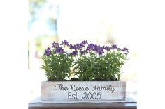 Personalized planter box