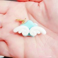 Cute Kawaii Glow in the Dark Cupid Angel Polymer Clay Charm/