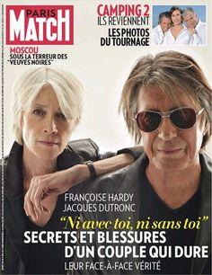 Françoise Hardy and Jacques Dutronc on the Cover of Paris Match, 8 April 2010.