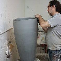 Tommy Zen in his workshop. Zen, Contemporary Ceramics, Workshop, Sculpture, Studio, Decor, Atelier, Studios, Decorating