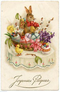 old fashioned easter cards Easter Art, Easter Crafts, Easter Bunny, Vintage Cards, Vintage Postcards, Old Illustrations, Easter Illustration, Easter Greeting Cards, Easter Pictures