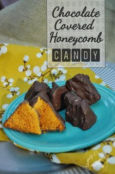 Chocolate Covered Honeycomb Recipe - Very simple but amazing candy recipe! Great for holiday gift giving!