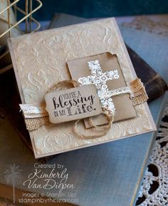 Papier filtre collé puis embossé / My Brilliant Idea! - StampinByTheSea.com
