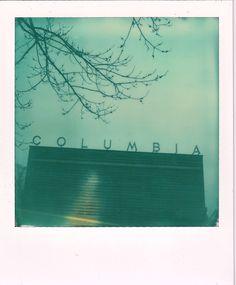 Polaroid SX 70 land camera. Impossible. Freibad Columbiadamm, Columbia, Berlin Neukölln, -3 Grad