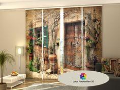 Curtains, Drapes & Valances Fotogardinen Orange Schiebevorhang Schiebegardinen Vorhang Gardinen 3d Fotodruck Clear-Cut Texture