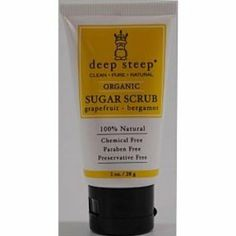 Deep Steep Sugar Scrub Grapefruit Bergamot Case Pack 24 Deep Steep Sugar Scrub Grapefruit Bergamot by Deep Steep. $117.00. Brand Name: Deep Steep Mfg#: 692974. Shipping Weight: 2.00 lbs. Please refer to SKU# ATR16386308 when you inquire.. This product may be prohibited inbound shipment to your destination.. Picture may wrongfully represent. Please read title and description thoroughly.. Deep Steep Sugar Scrub Grapefruit Bergamot. 1 oz plastic tube, a convenient travel size...